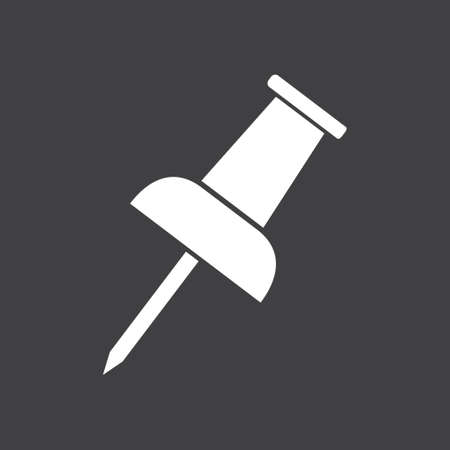 tack: Push pin icon. Attach a note. New Reminder. Create a bookmark. Illustration