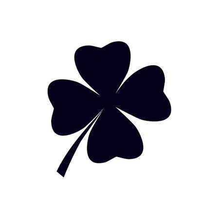 Feuille icône signe de trèfle. symbole Saint Patrick. concept écologie. style design plat.