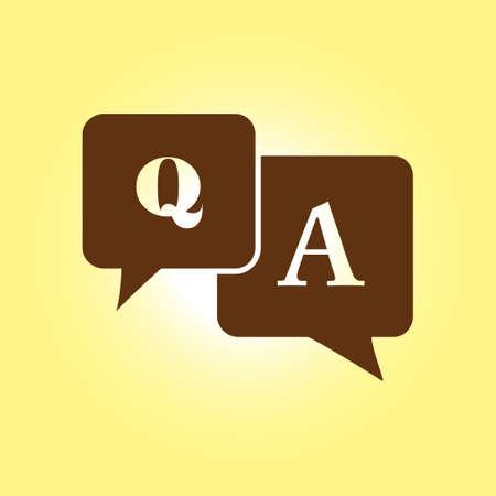 qa: Q&A sign symbol.