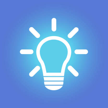 light bulb sign symbol.