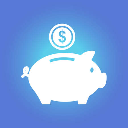 Piggy bank money. Illustration
