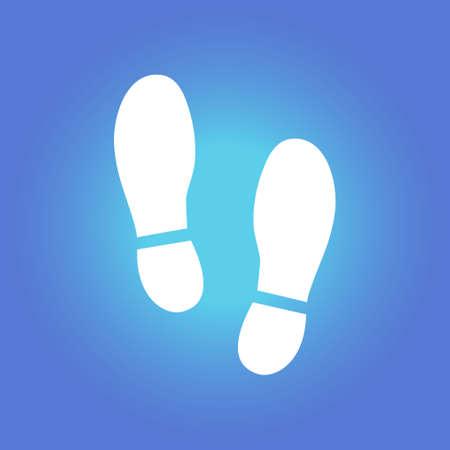 Shoe print symbol.