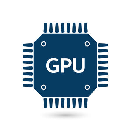 gpu: Microchip sign icon.
