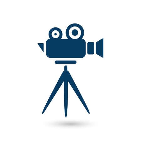 director chair: Cinema camera symbol.