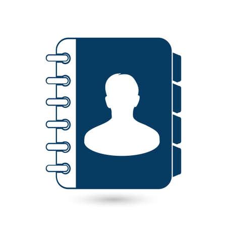 directory book: Address book symbol. Illustration