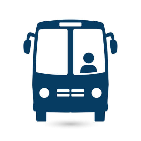 schoolbus: International tour icon. Illustration