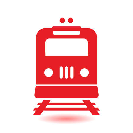 Train sign symbol. Illustration