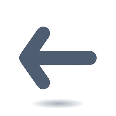 Arrow icon. Pointer direction for land navigation. Illustration