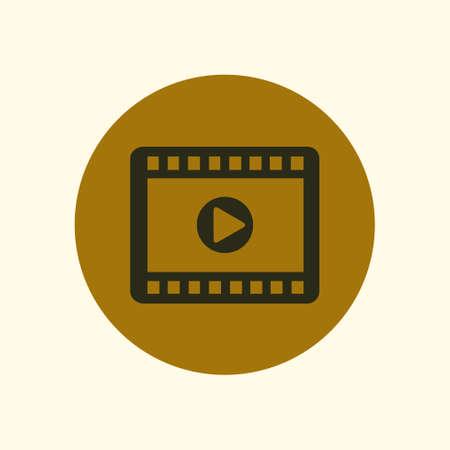 movie film: Video icon. Flat design style. Movie premiere. Live video Calendar. Illustration