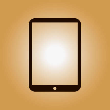 pc icon: Modern digital tablet PC icon. Flat design icon. Illustration