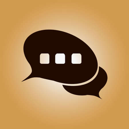 correspondence: Chat Flat Icon.Badge discussion, dialogue, correspondence character.