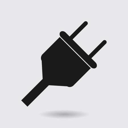Vector electrical plug symbol. Web flat icon. Иллюстрация