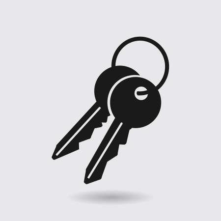 administrador de empresas: Icono de la tecla. Bloquear símbolo. Signo de seguridad. Diseño plano. Vectores