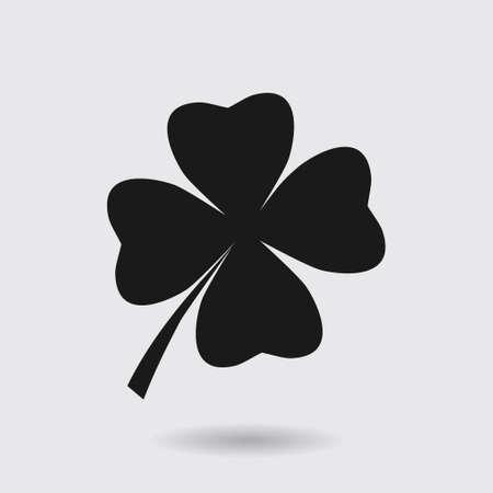 patrick: Leaf clover sign icon. Saint patrick symbol. Ecology concept. Flat design style.