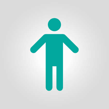 Human male sign icon. Male toilet. Flat style. A gender symbol is a pictogram used to represent either biological sex. Illustration