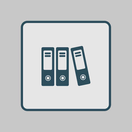 classify: Office folders with papers and documents. Archives folder icon. Illustration