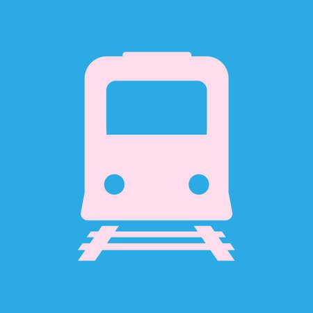 Trein pictogram. Metro symbool. Treinstation teken.