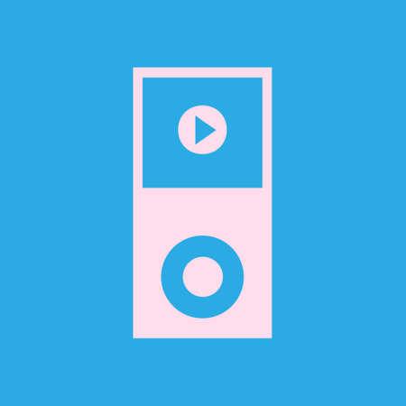 pause button: Portable media player icon Illustration