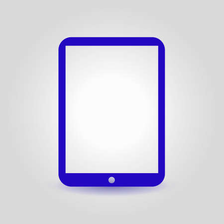 pc icon: Modern digital tablet PC icon. Flat design icon.