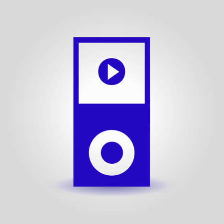 pause button: Media player symbol. Illustration