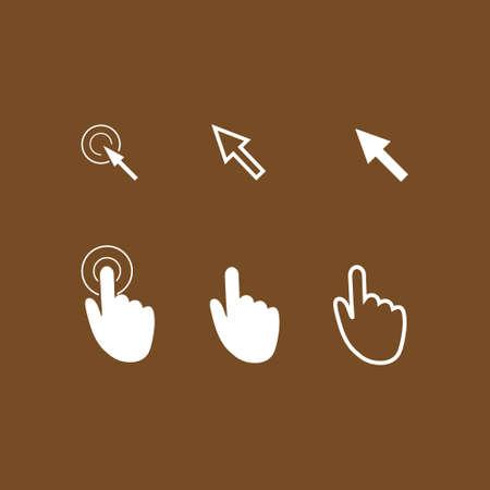 Mouse, hand, arrow. Illustration