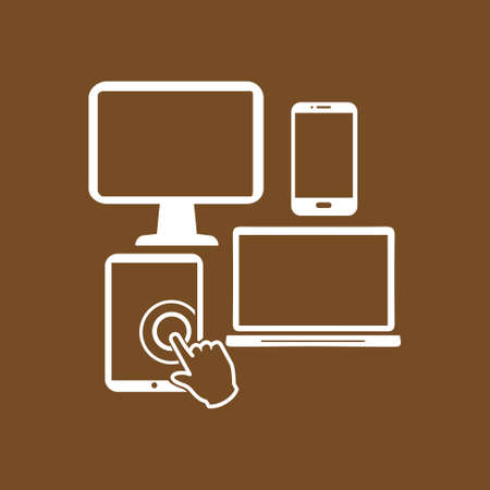 pc icon: Electronic Devices symbol. Illustration