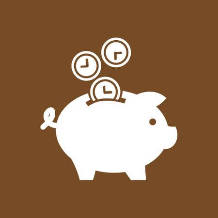 wealth management: Piggy bank - saving money. Illustration