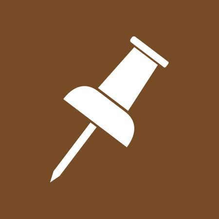 Push pin sign symbol.