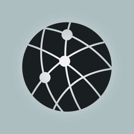 global communication: Global technology or social network icon sign symbol.