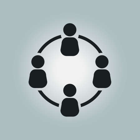 global communication: Communication concept. Social network single icon. Global technology. The network of social connections in the business. Illustration