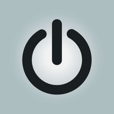 controlling: Power sign icon.  Power button. Close application. Flat design style. Illustration