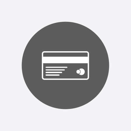 valid: Vector credit card icon. Flat design style.