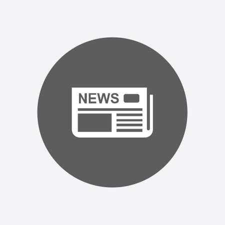Diseño plano. Visión general de los medios de comunicación, la primera página de noticias. Ilustración de vector