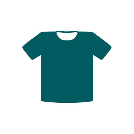 icon: T-shirt sign icon. Clothes symbol. Flat design style.