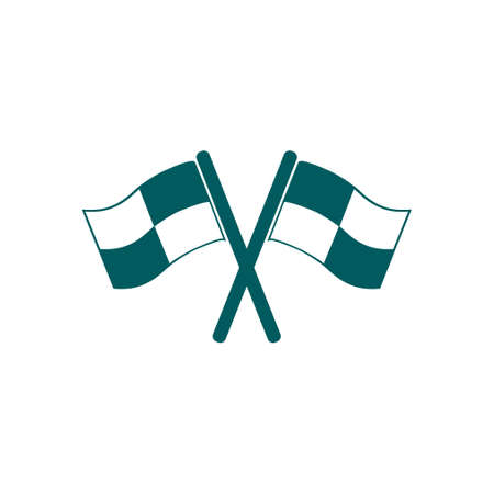 racing: Flag pointer sign icon.