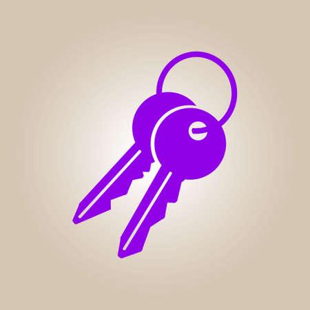 metal doors: Key icon. Lock symbol. Security sign. Flat design style.