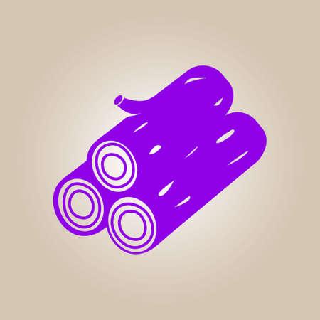 tree log: Wood icon. All lumberjack. Renewable resource symbol. Illustration