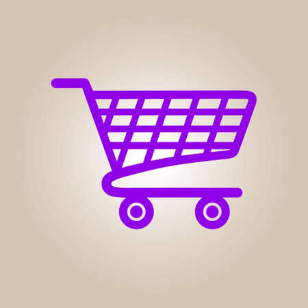 Flat icon of shopping chart. Add a product to the cart. Stock Vector - 79020238