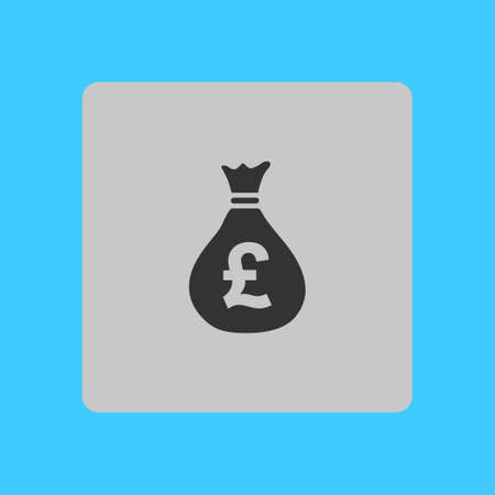 Pound Gbp Currency Symbol Flat Design Style Royalty Free Cliparts