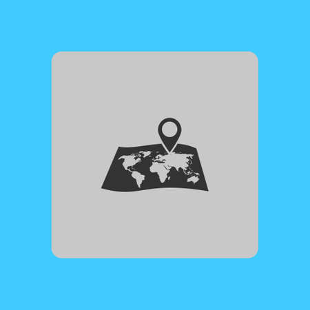 paper pin: Navigation sign icon.