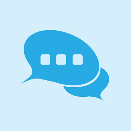 thought balloon: Chat Flat Icon.Badge discussion, dialogue, correspondence character.
