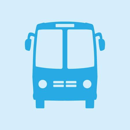 symbol traffic: Bus icon. Schoolbus symbol. International tourist traffic. Comfortable vehicles.