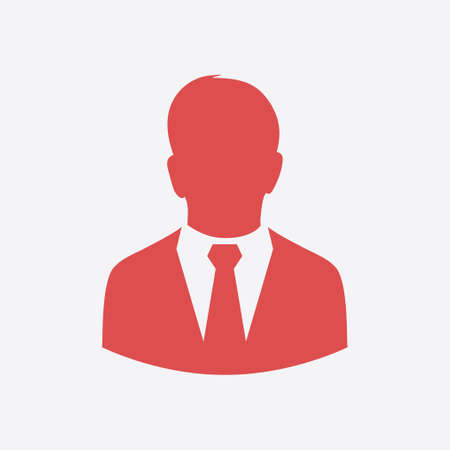 User icon of man in business suit. Flat design style. Illustration