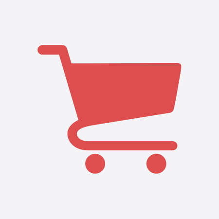 add to cart: Flat icon of shopping chart. Add a product to the cart.