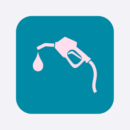 refueling: Gasoline pump nozzle sign.Gas station icon. Flat design style.