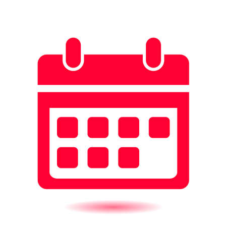 Vector calendar icon. Important dates sign. Flat design style.