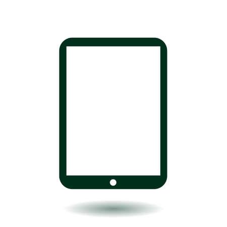 touchpad: Modern digital tablet PC icon. Flat design icon. Illustration