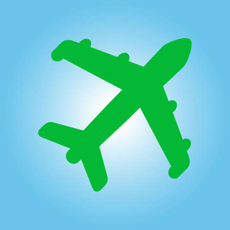 Plane icon. Travel symbol. Airplane plane from the bottom sign. Illustration