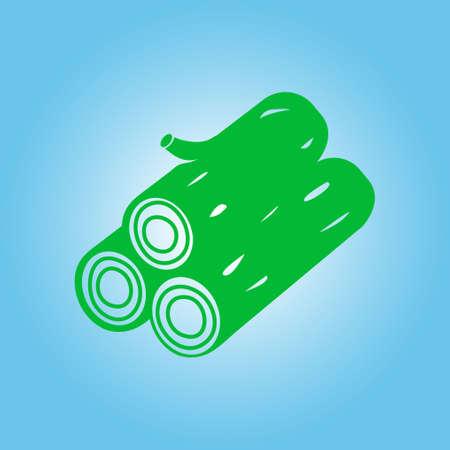 Wood icon. All lumberjack. Renewable resource symbol. Illustration