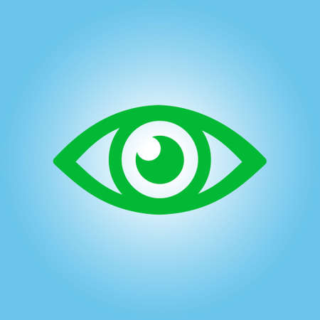 Eye icon. Monitoring and surveillance system. Flat design style.